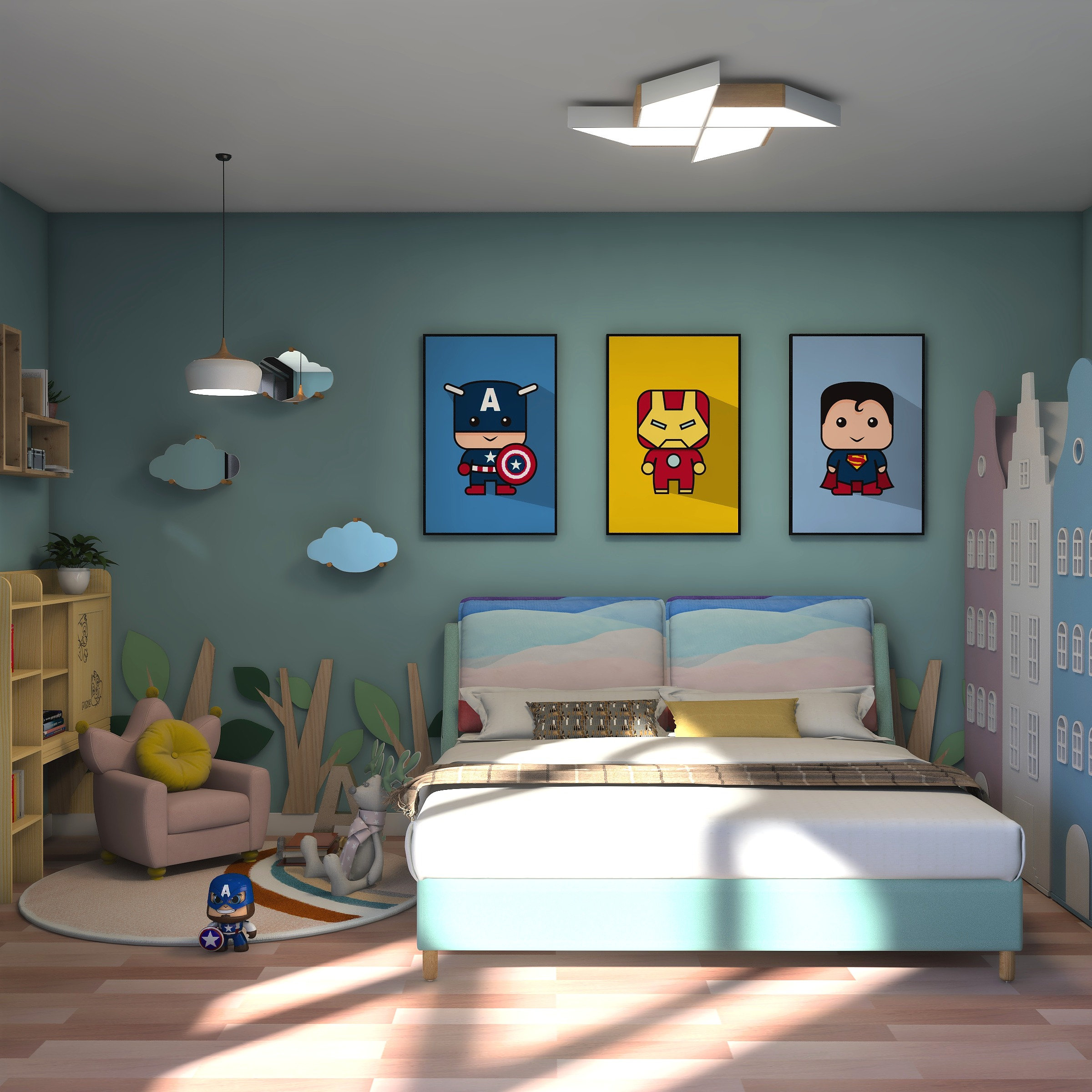 Design a Super Hero Room for Your Boy