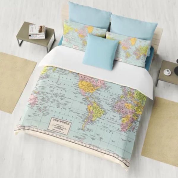 World Map Duvet Cover - ApolloBox
