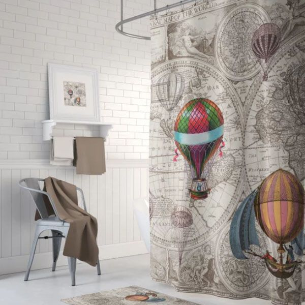 Product Thumbnail Image For Hot Air Balloon Shower Curtain