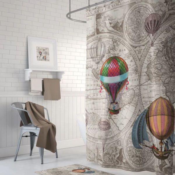 Hot Air Balloon Shower Curtain Apollobox