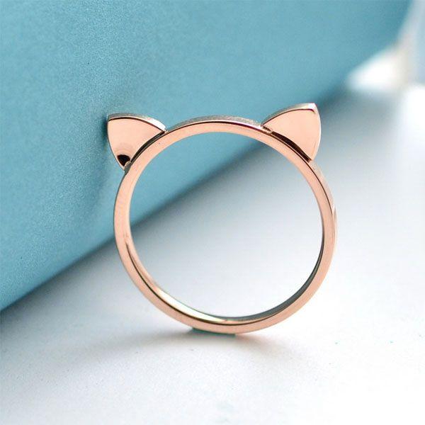 Ring In Kaars.Cat Ears Ring Apollobox
