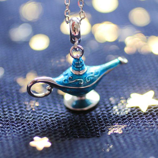 Blue Genie's Lamp Necklace