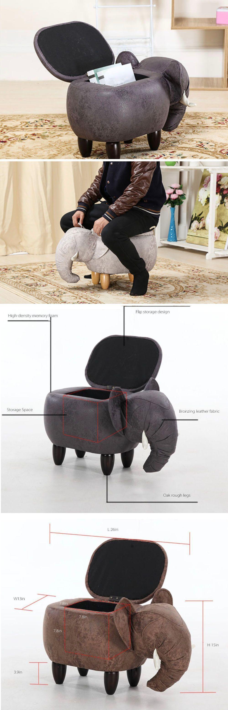 Elephant Storage Stool Good Fortune