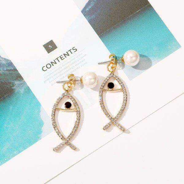 Pearl Fish Ear Jackets