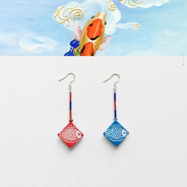 INOpets.com Anything for Pets Parents & Their Pets Koi Fish Earrings