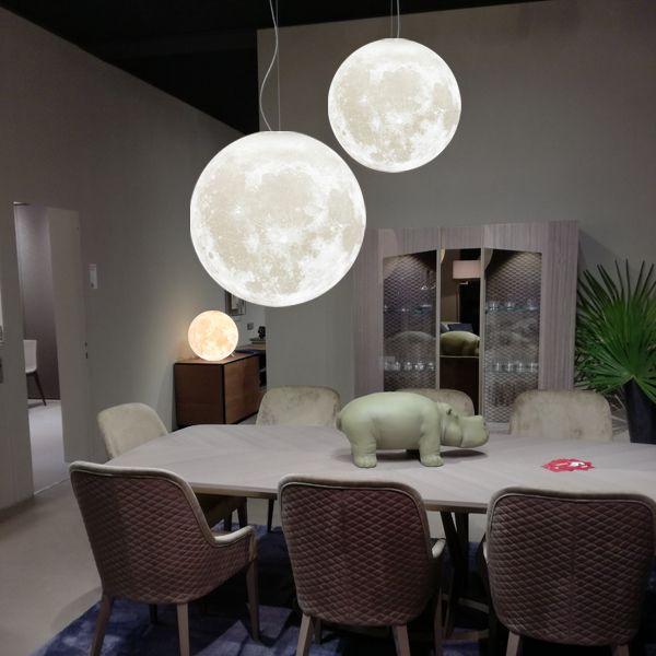 Zeegine 3D Printed Moon Pendant Light