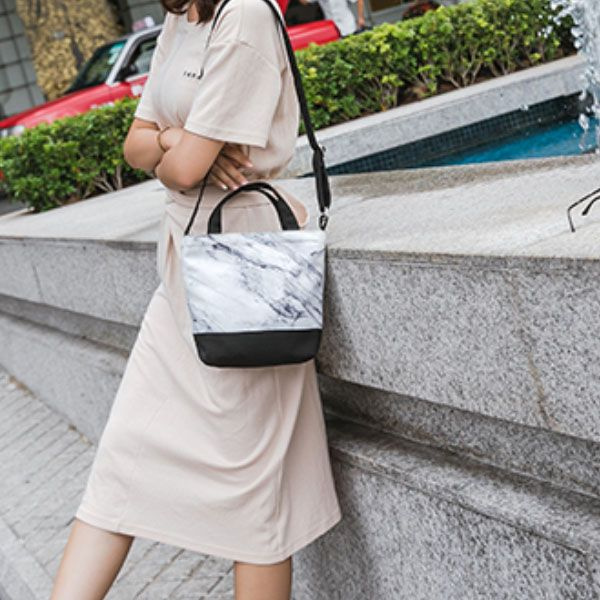 Marble Tapered Canvas Bag From Apollo Box