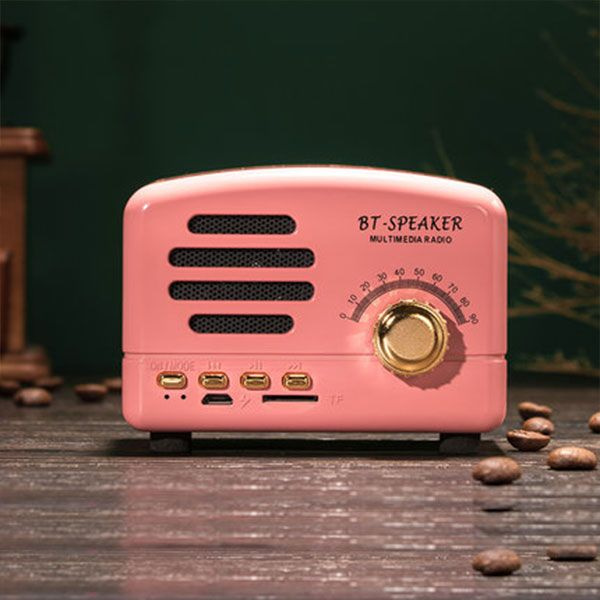 Mini Vintage Radio Bluetooth Speaker from Apollo Box
