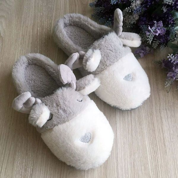 371698705 product image for Cute Reindeer Slippers ...
