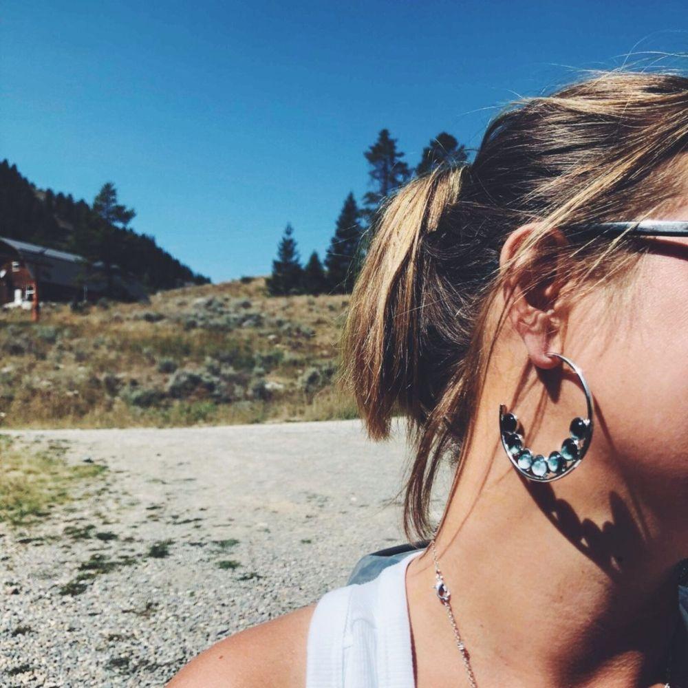 Moon Phase Birch Bark Earrings