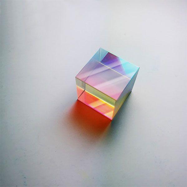Clear Optical Glass Cube - ApolloBox