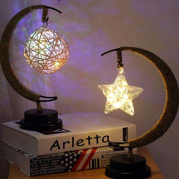 Half-Moon Fairy Light Lamp