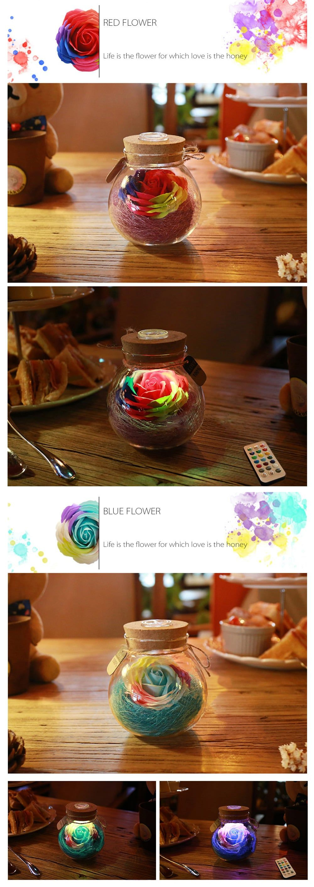 Rose Light Bottle Romantic Illumination