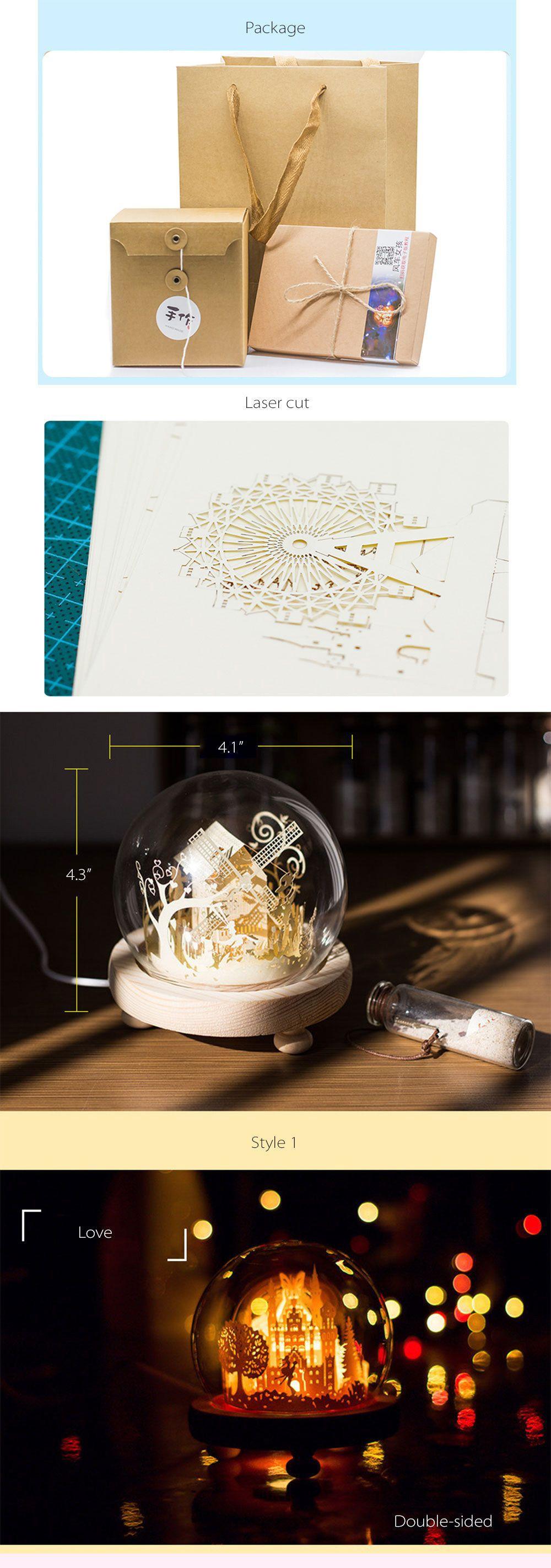 3D DIY Paper Art Night Light from Apollo Box