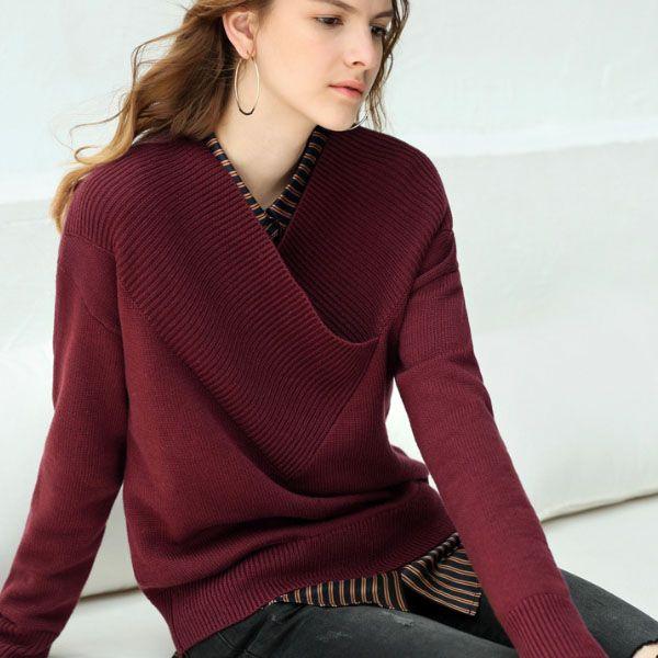 e52515d7104a0e ... product thumbnail image for Woman's V Neck Sweater ...