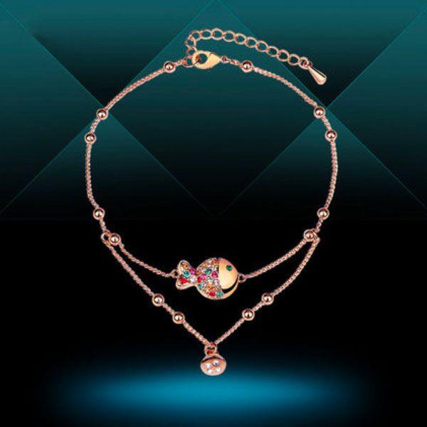Colorful Crystal Fish Bracelet