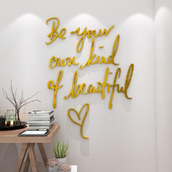 Inspirational 3D Wall Stickers