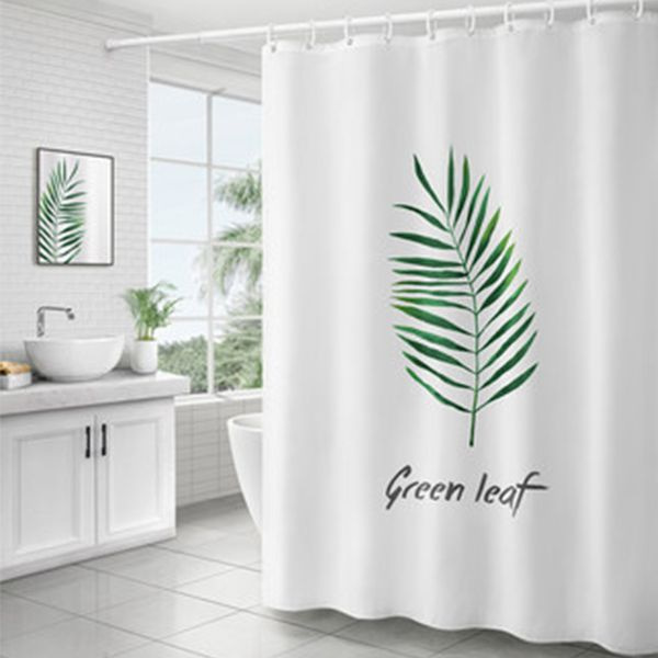 Product Image For Green Palm Leaf Shower Curtain