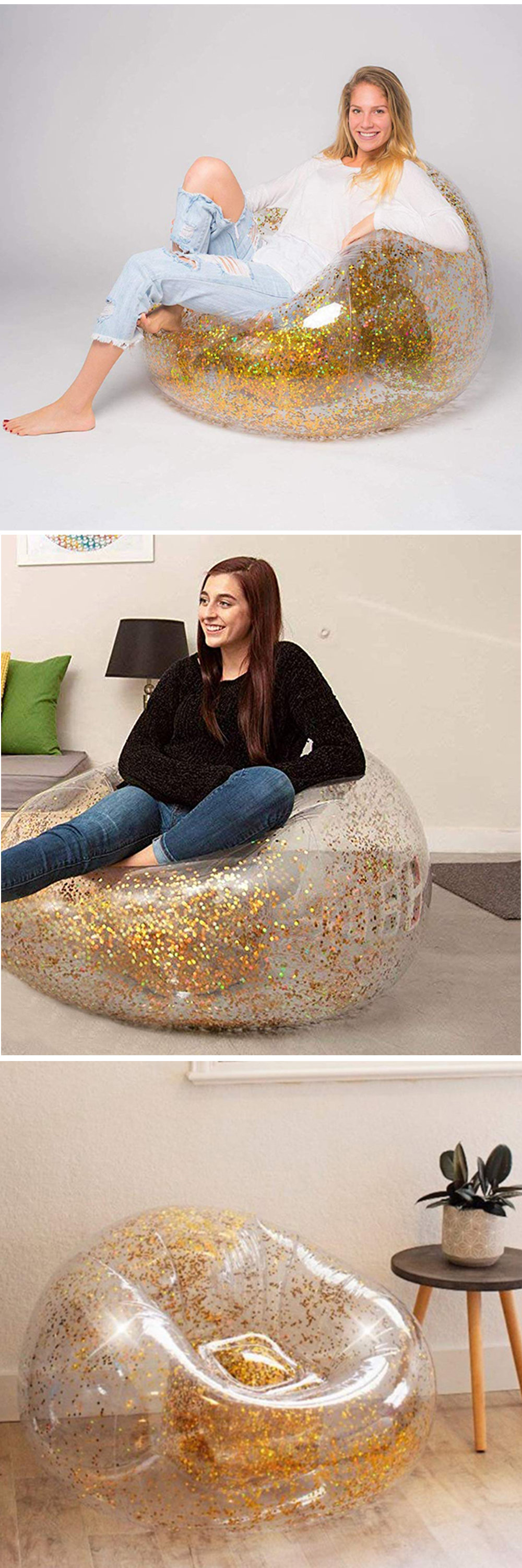 Marvelous Glitter Inflatable Chair From Apollo Box Pabps2019 Chair Design Images Pabps2019Com