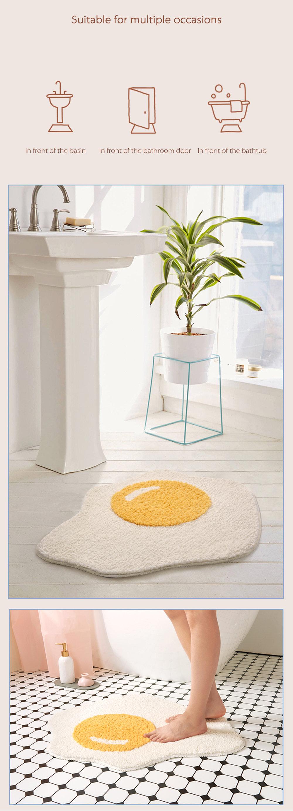 Poached Egg Floor Mat Creative and Unique