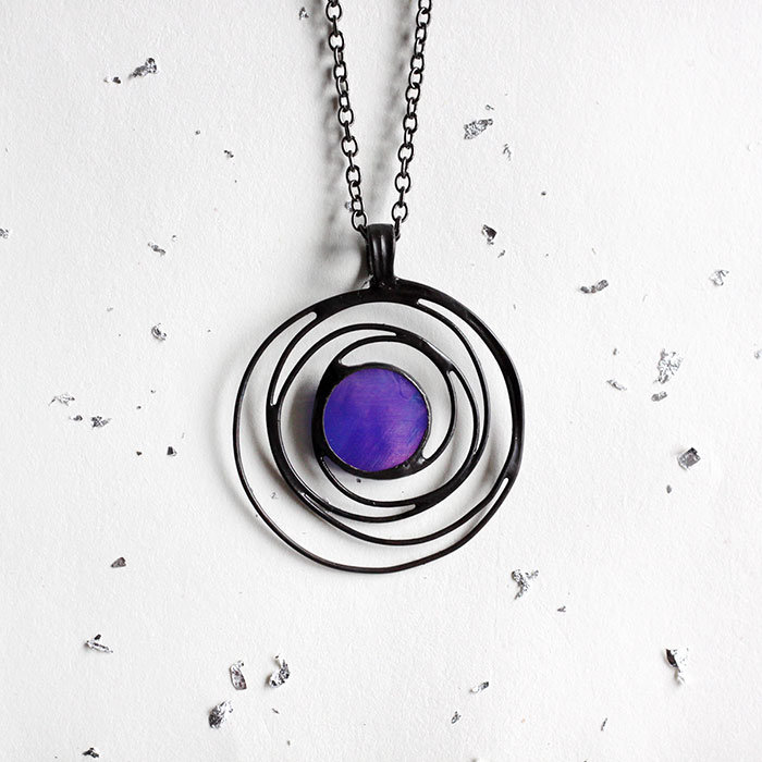 6fa777afb7bb4 ... product thumbnail image for Iridescent Blue Galaxy Necklace ...