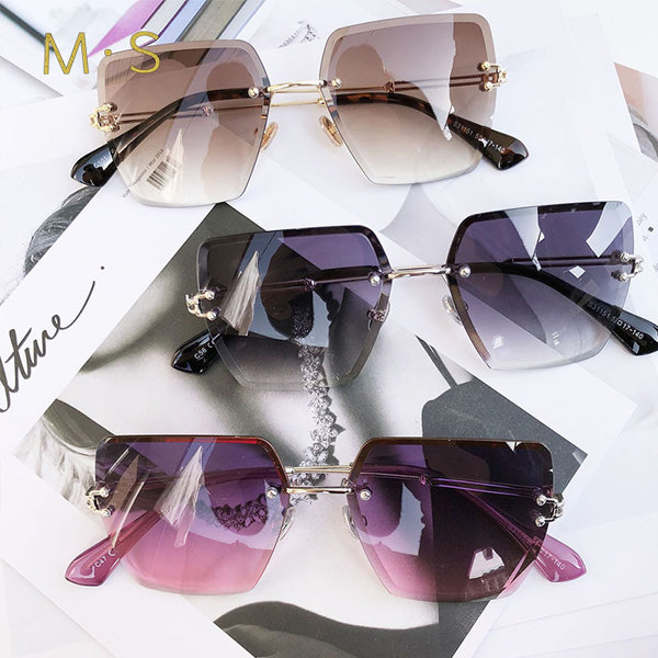 Women's Fashion Rimless Sunglasses