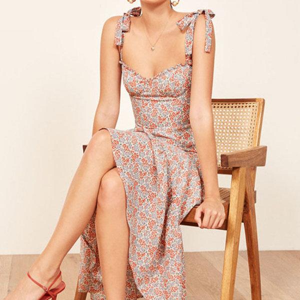 Sweetheart Floral Print Dress