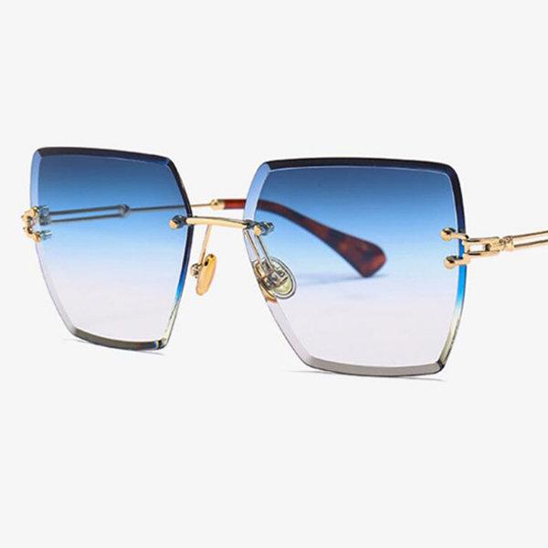 Rimless Gold Sunglasses