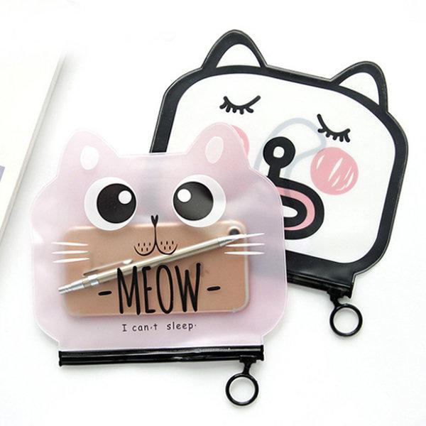 Cat Clear Pencil Case – 2PK