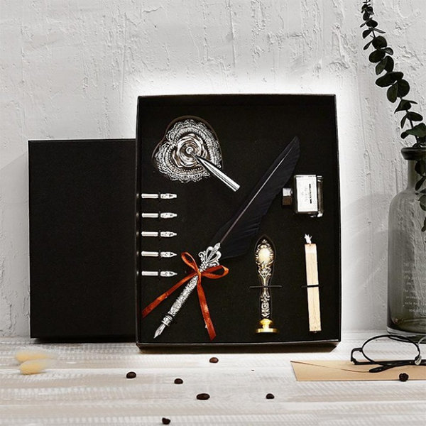 Feather Dip Pen Gift Set