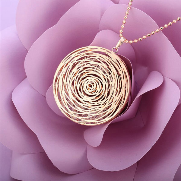 Circles Crystal Necklace