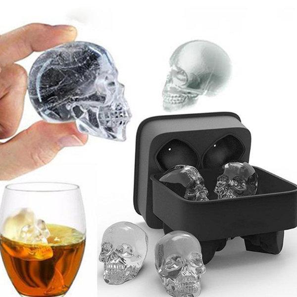 3D Skull Silicone Mold Tray