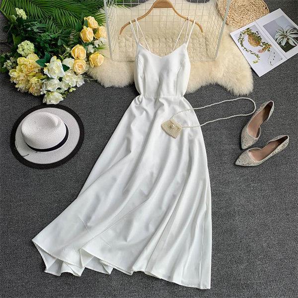 Double Strap V-Neck Dress