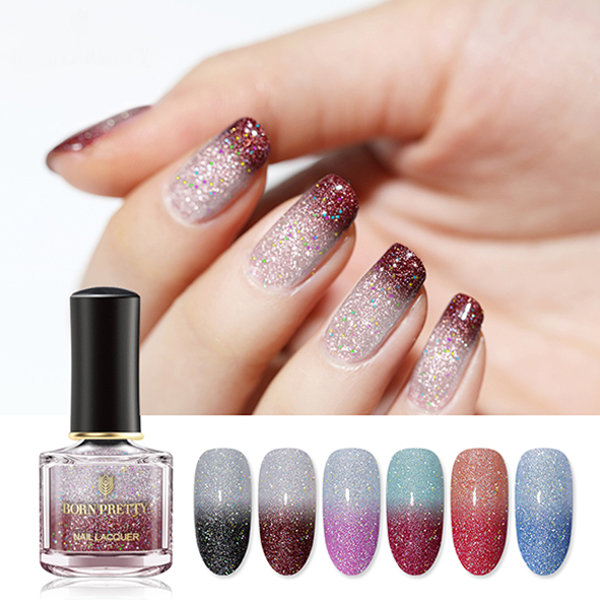 Holographic Glitter Nail Polish - ApolloBox