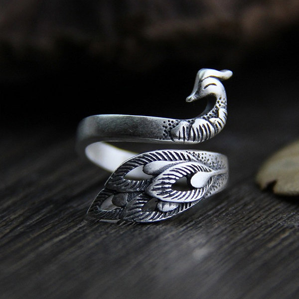 Peacock Silver Ring