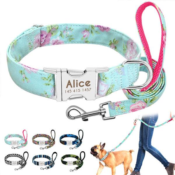 Personalized Dog ID Collar & Leash