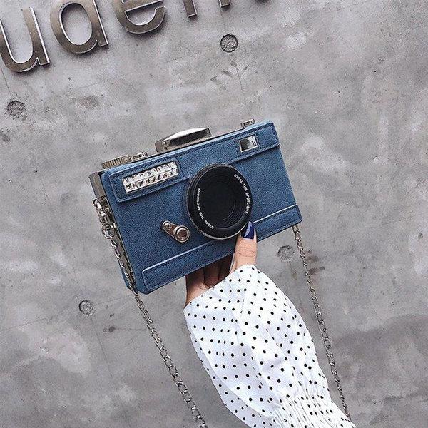 Camera Chain Clutch Bag