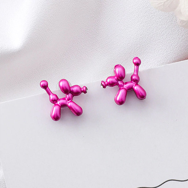 Colorful Balloon Puppy Stud Earrings