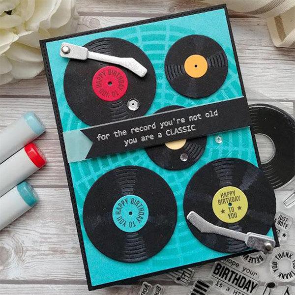 Phonograph Metal Cutting Dies Stamps Stencil