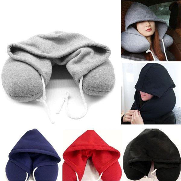 Hooded Travel Neck Pillow