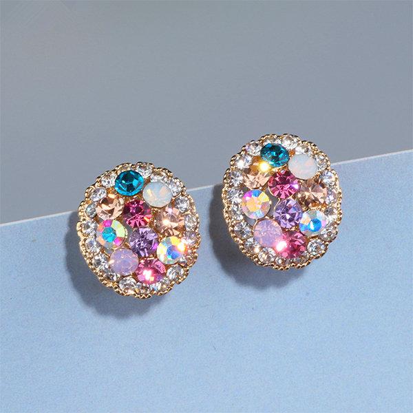 Multi-Colored Crystal Earrings