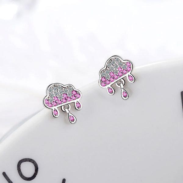 Diamante Rain Cloud Earrings