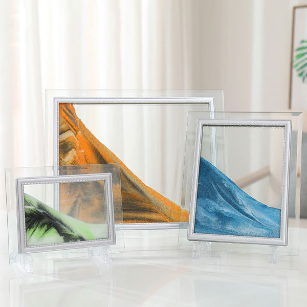 Green LYPGONE Moving Sand Art Picture Dynamic Sand Picture Flowing Sand Picture Desktop Art Toys Voted Best Gift! Forest Heart