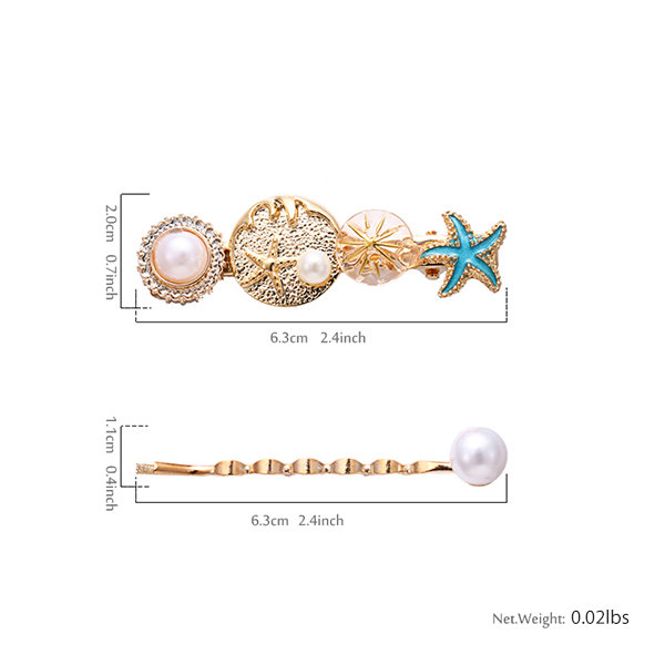 10b23f5a722d9 product thumbnail image for Ocean-Themed Hair Clip Set ...