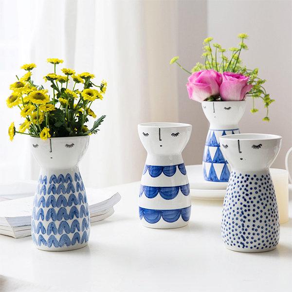 Unique Girl Ceramic Vases