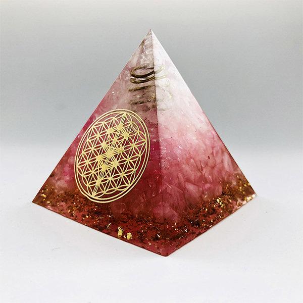 Red Orgonite Pyramid