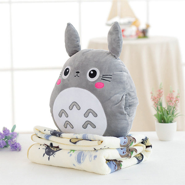 Totoro Pillow & Blanket