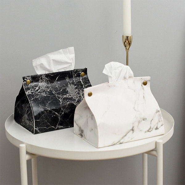 Marble Pattern Tissue Box Cover Apollobox