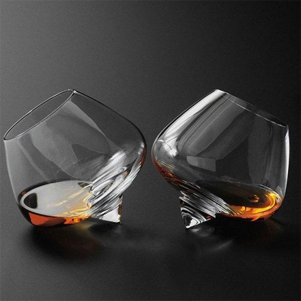 Rotating Whiskey Glass
