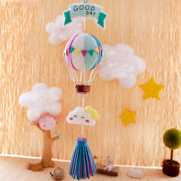 Handmade hot air balloon pendant